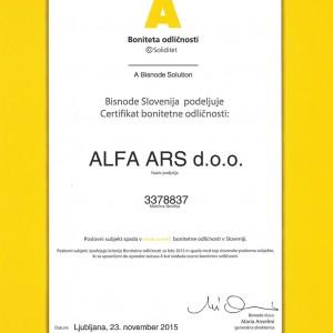 ALFAARS-certifikat-odlicnosti-SLO